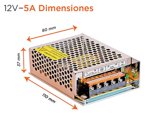 fuente 12v 5a switching